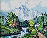 ROCKY MOUNTAIN VIEWS NEEDLEPOINT CANVAS FROM COLLECTION D'ART #10.321, CANVAS ONLY. THIS IS NOT A KIT