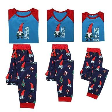 b633606fb54d5 Miyanuby Ensembles de Pyjama Noel Famille Père Mère Garçon Fille Bébé  Pyjamas à Deux Pièces Set