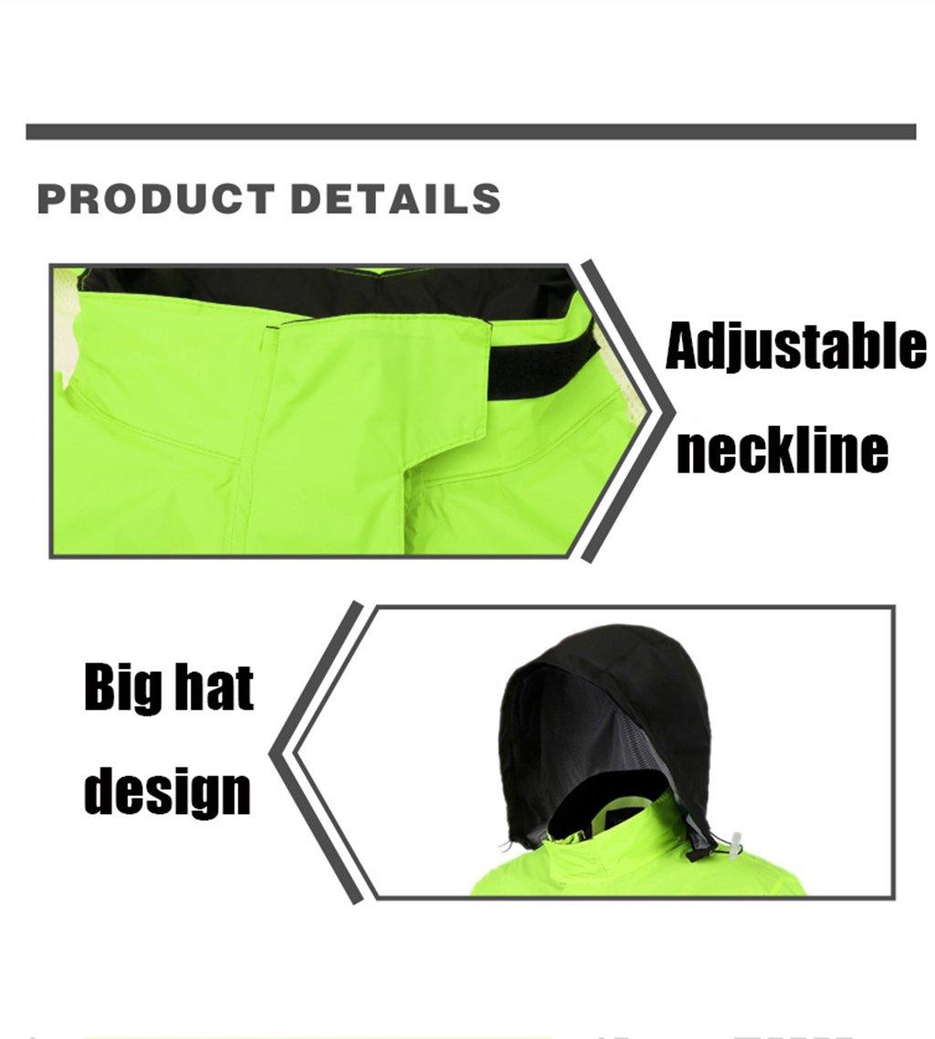 CXM Rainstorm Raincoat Rain Pants Suit Adult Split Raincoat Moto Riding Raincoat Imperméable Épaississement Hommes XL