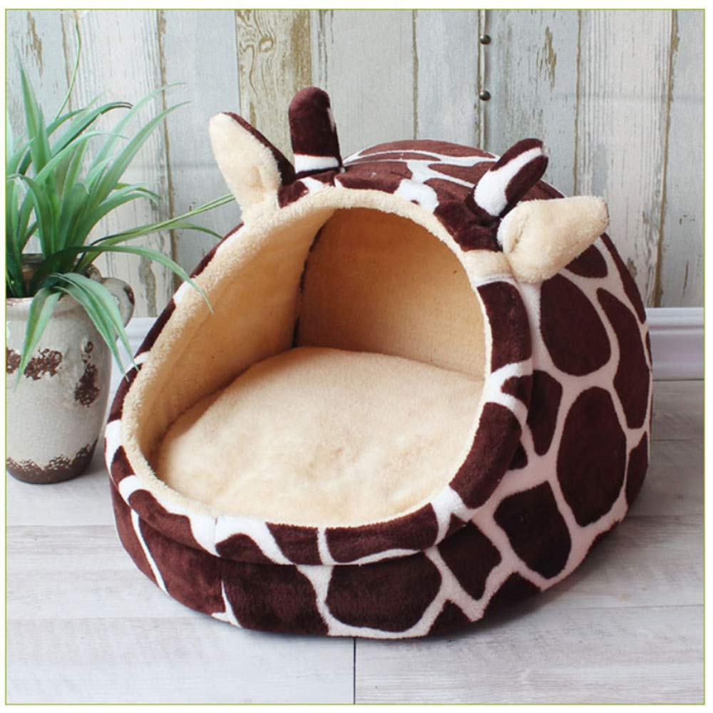 L Wuwenw Pet Bed Dog House Kennel Doggy Warm Cushion Basket For Small Medium Dogs Fashion Strawberry Cave Cat Tent Puppy Nest Mat,L