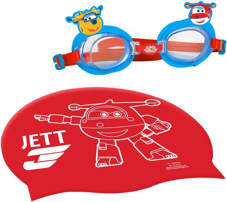 Super Wings - Gorro y gafas natación infantil (77018)