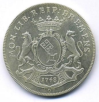 Altdeutsche Münze 12 Taler 1748 Bremen Reichstaler Replica