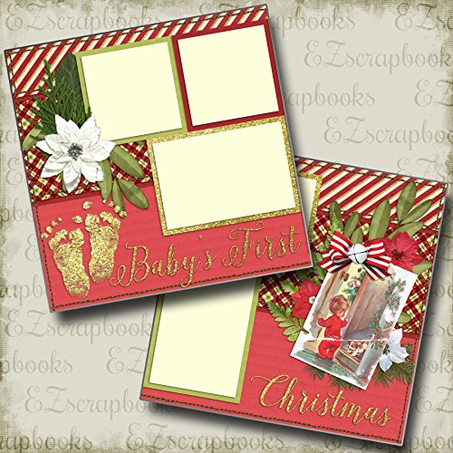 (BABY'S FIRST CHRISTMAS - Premade Scrapbook Pages - EZ Layout 634)