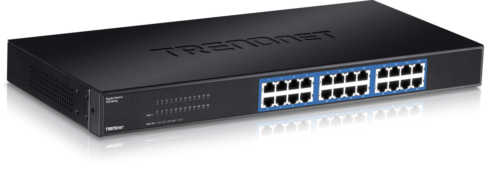10//100//1000 Mbps TRENDnet 8-Port Gigabit GREENnet Switch 16 Gbps Switching ...