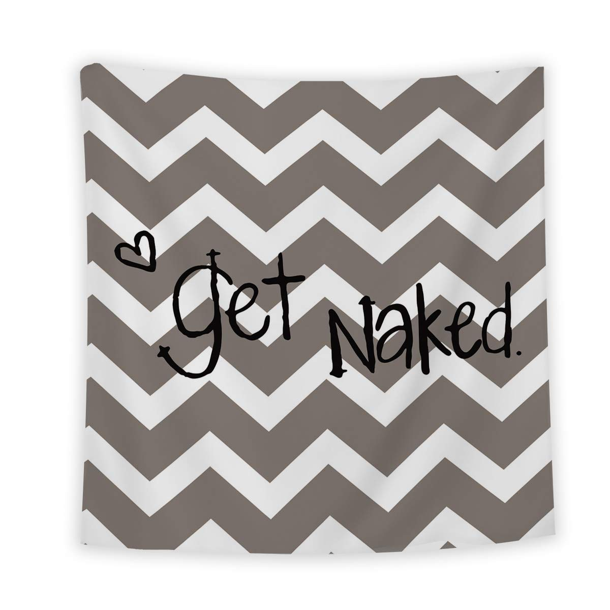 Libaoge Artistic Tapestry Wall Hanging, Zigzag Tapestry Funny English Saying Get Naked Wall Tapestries for Home Living Room Dorm Decor Bedroom Decorative, 59x79 Inches