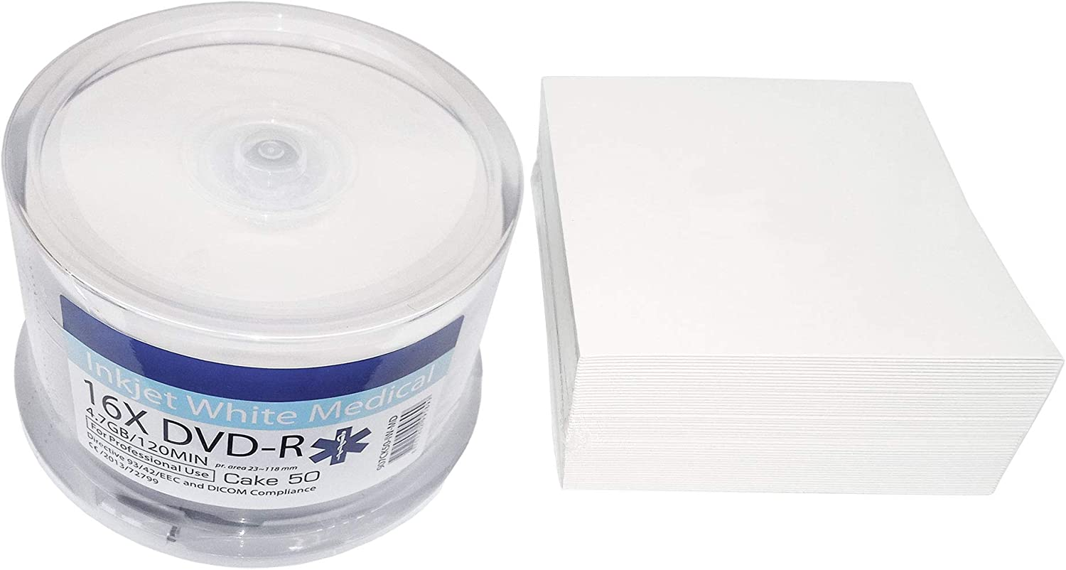 50 Printable Dvd Archival Hard Coat Pro Dvd R 4 7gb 16x Computers Accessories