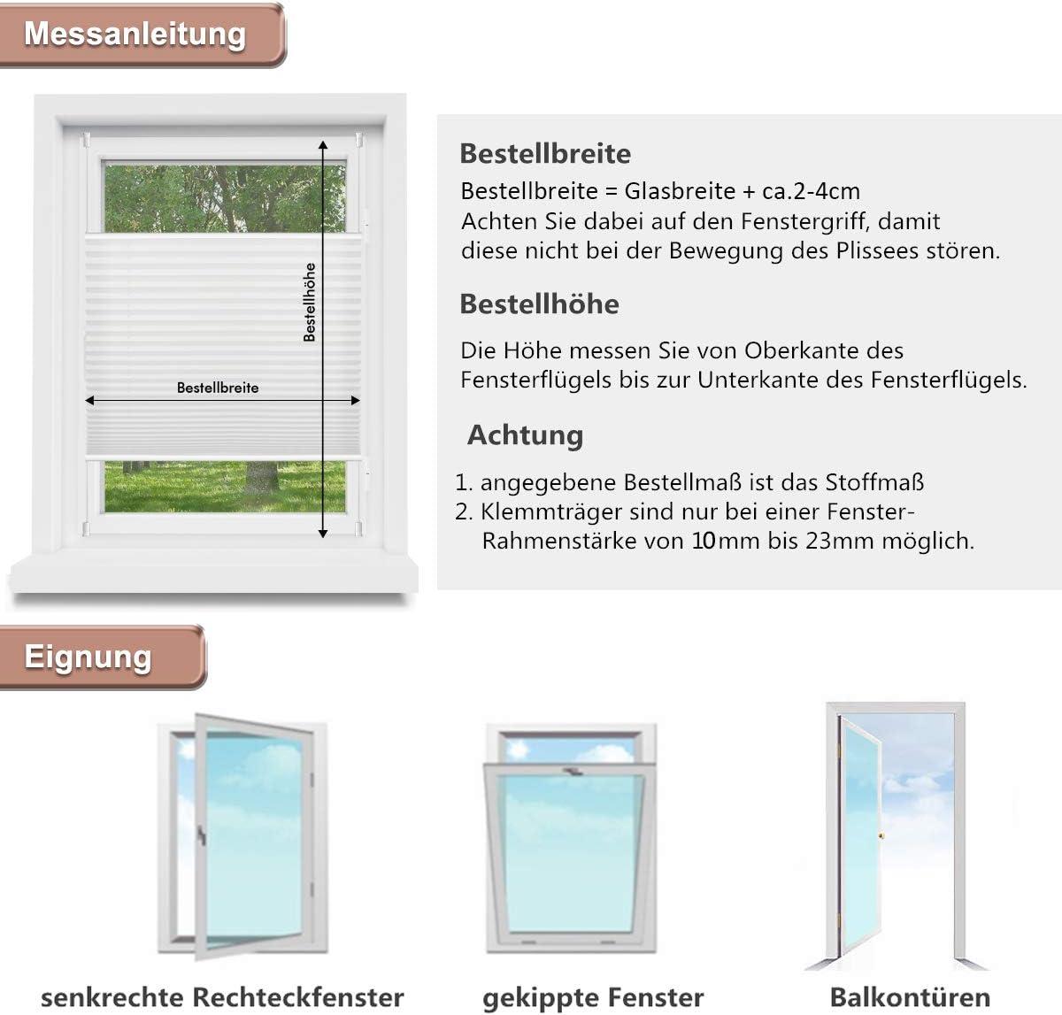 Klebeplatten für Klemmträger Klemmfix Rollo Jalousie Fensterrollo selbstklebend