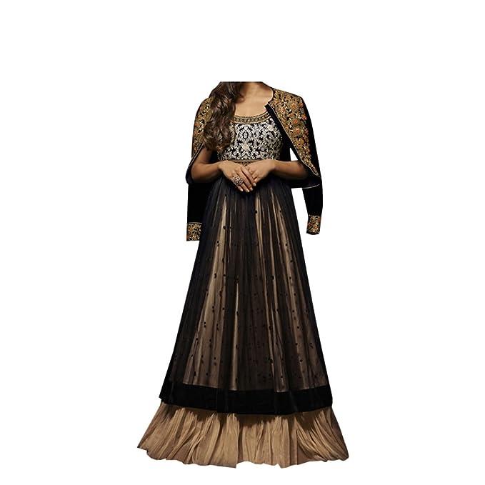 velvet Diseñador indio paquistaní mujer vestido largo anarkali salwar kameez vestido de novia chica fiesta desgaste