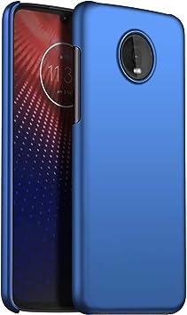 1SourceTek Compatible para Funda Motorola Z4 Play Estuche Protector para Celular Delgado Minimalista Protector Anti-Rasguño de Alta Calidad para Motorola Z4 Play(Azul Liso): Amazon.es: Belleza