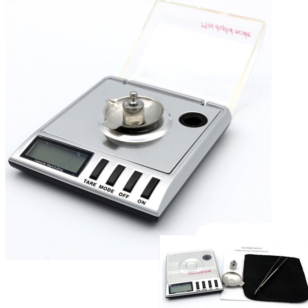 USUN 0.001g-30 g Digital Scale Milligram Diamant Gram Bijoux de Précision Balance