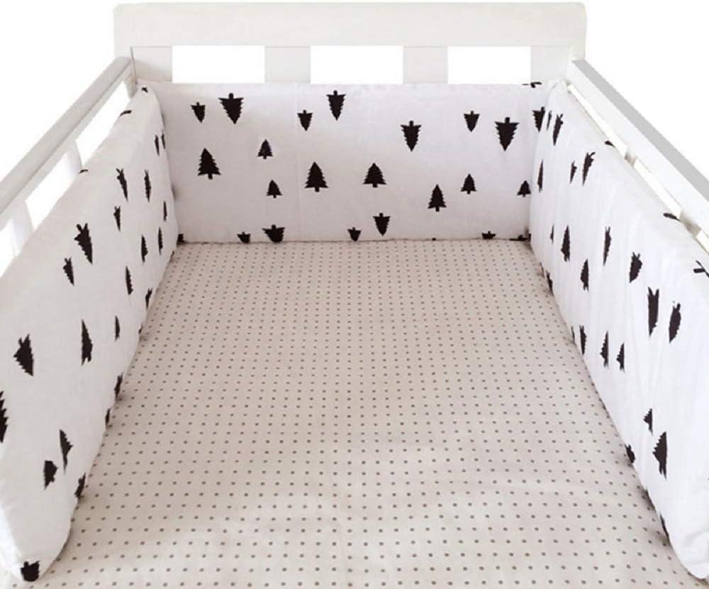 78.7 x 11.8 BATTILO HOME Baby Nursery Removable Cover Bed Thicken Bumper One-Piece Crib Around Cushion Cot Protector Pillows Newborns Room Decor