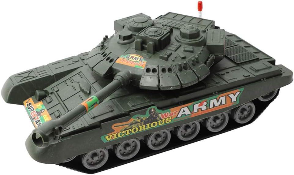 STOBOK Tanque Inercial Juguete Ejército Camión Juguetes Tanque Modelo Educativo Aprendizaje Juguete para Niños Niño Niños Niñas Regalo (Verde Militar)