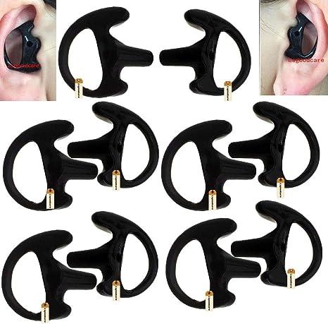 GEL EAR MOLD INSERTS FOR RADIO EARPIECE 2 RIGHT LARGE FLESH 2WAY RADIO EARTIPS