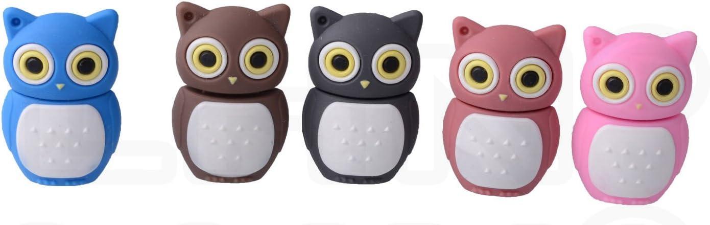 Brown LHN 8GB Night Owl USB 2.0 Flash Drive