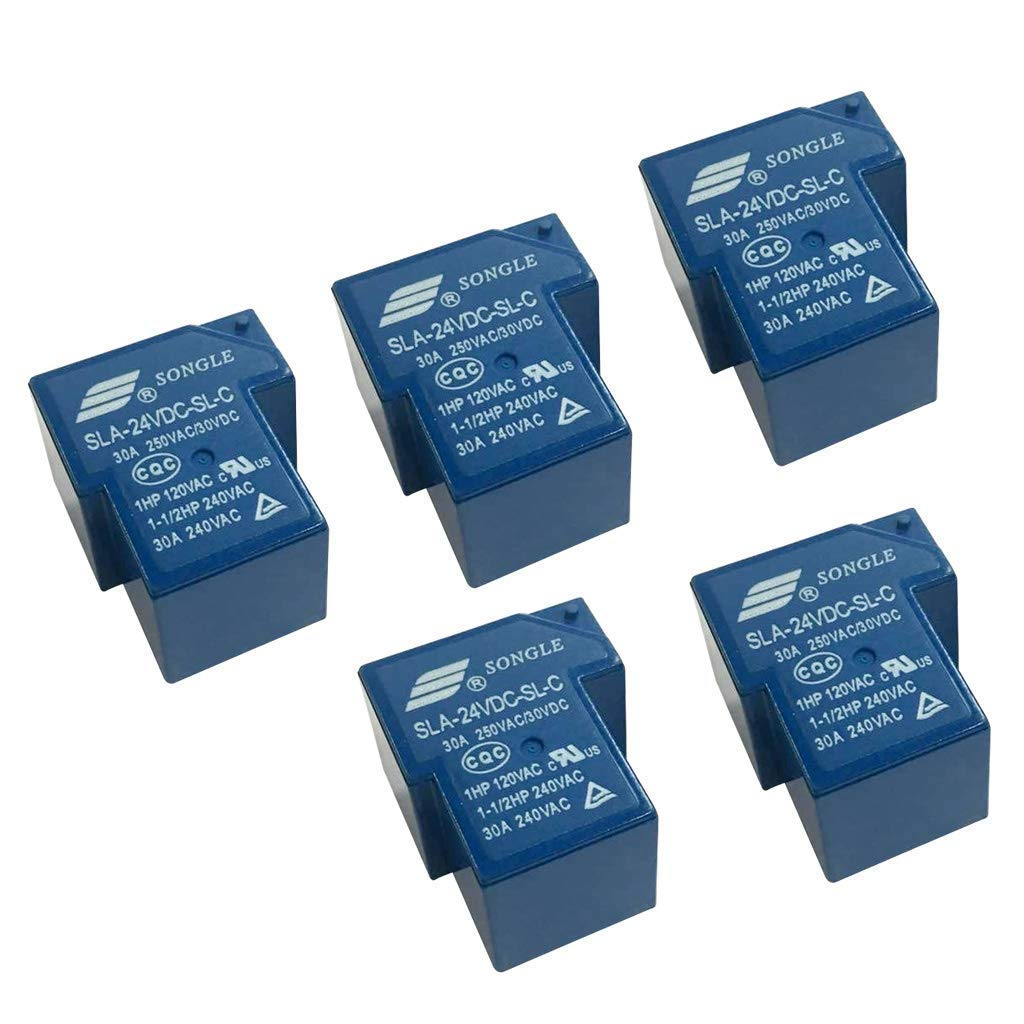 nouler Juler 5Pcs Relay Automatic Universal 24V Dc 30A Songle Sla-24Vdc-Sl-C 6-Pin PCB Installation