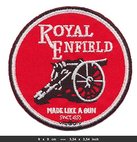 ROYAL ENFIELD Iron Sew On Cotton Patches Auto cars Motorcycles Motorbike Chief Drifter Scout RE-02 by RSPS ()