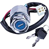 OTOHANS AUTOMOTIVE 4 Wire Pin Key Ignition Switch for Go Kart ATV Quad Dirt Bike Scooter Motorcycle