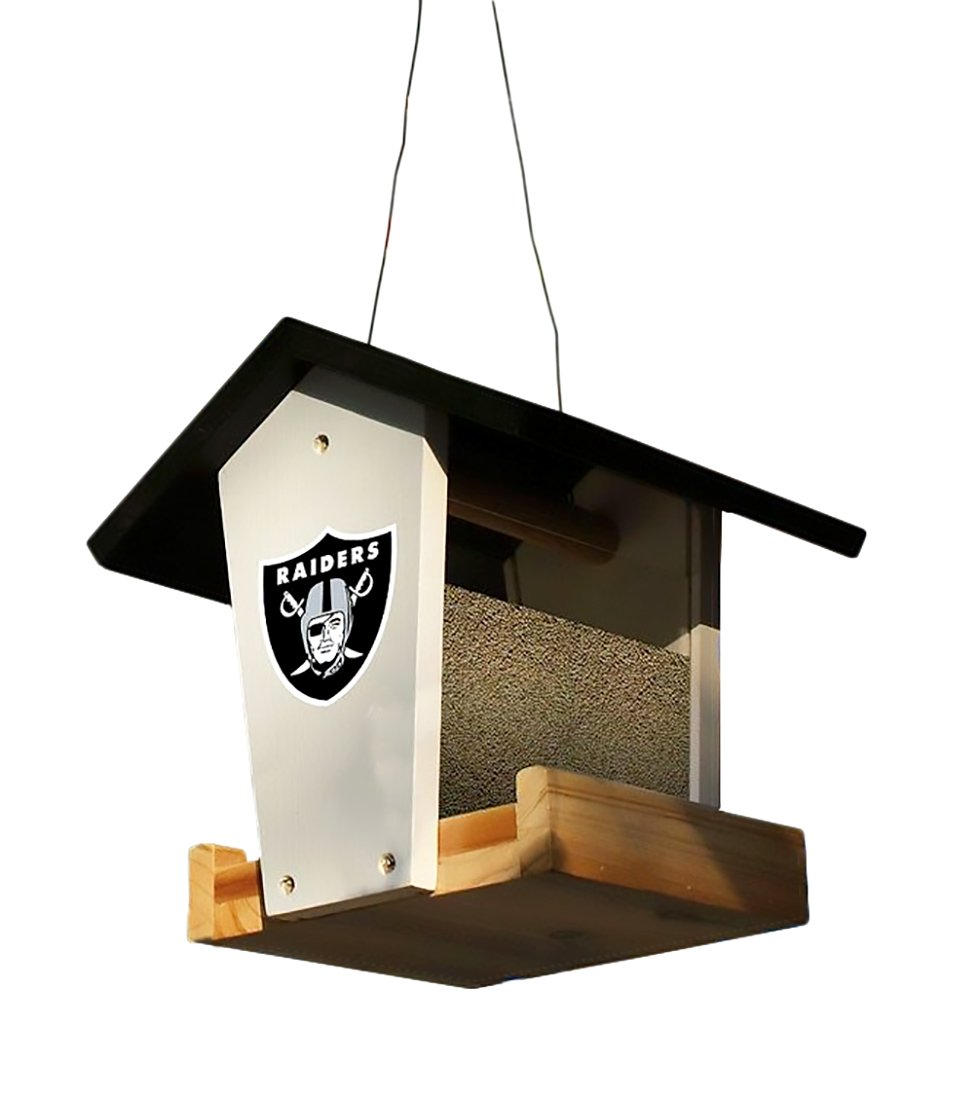 Oakland Raiders Officially Licensed Wooden Birdfeeder Kit Football Fanatics