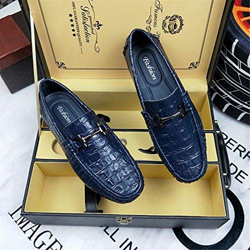 Heren Klassieke Casual Loafers - Mocassins Met Zachte Slip Op Schoenen H8002 Zwart