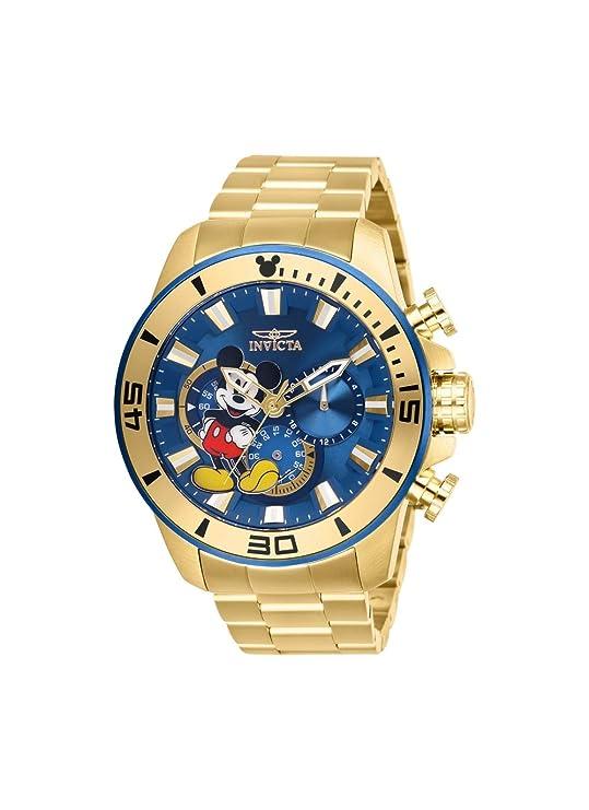 Edelstahl Herren Limited Invicta Edition Disney Armband Armbanduhr W2DHIE9