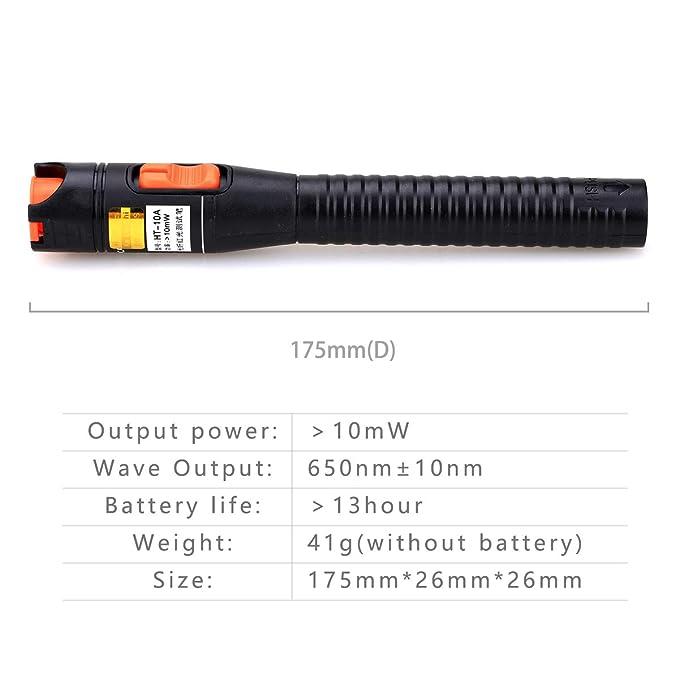 Cable de plástico óptico medidor de potencia con 10 mW 10 KM localizador Visual de fallos de fibra óptica Cable Tester Checker Prueba Herramienta para CATV ...