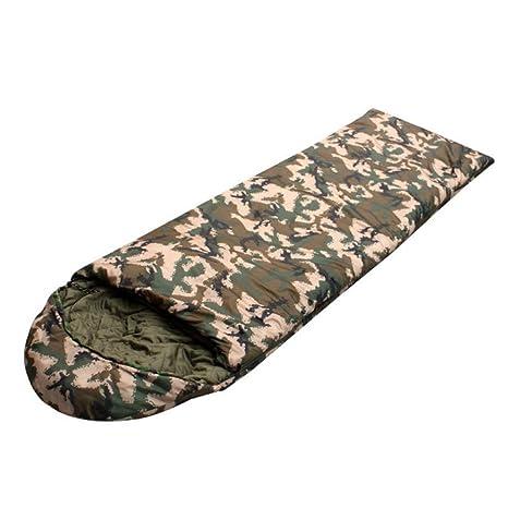 SZH&SHUID Camuflaje al aire libre Saco de dormir de algodón Peso sobre Ligero para el adulto