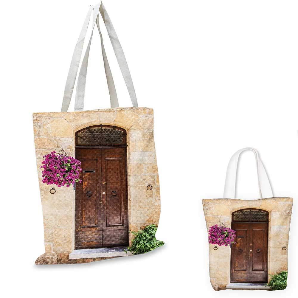 【お取り寄せ】 イタリアンタウンの花付きイタリア製木製ドア、本物のノスタルジックビルディングクリームライラックブラウン。 12