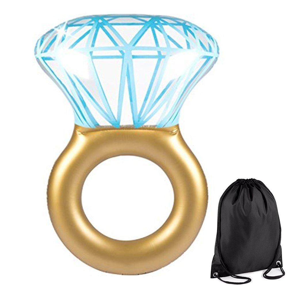 NWSS Diamante Gonfiabile Ring Anello Zattera Galleggiante Piscina Gigante Nuoto Diamanti (xxl) DiamondSwimRing_uk