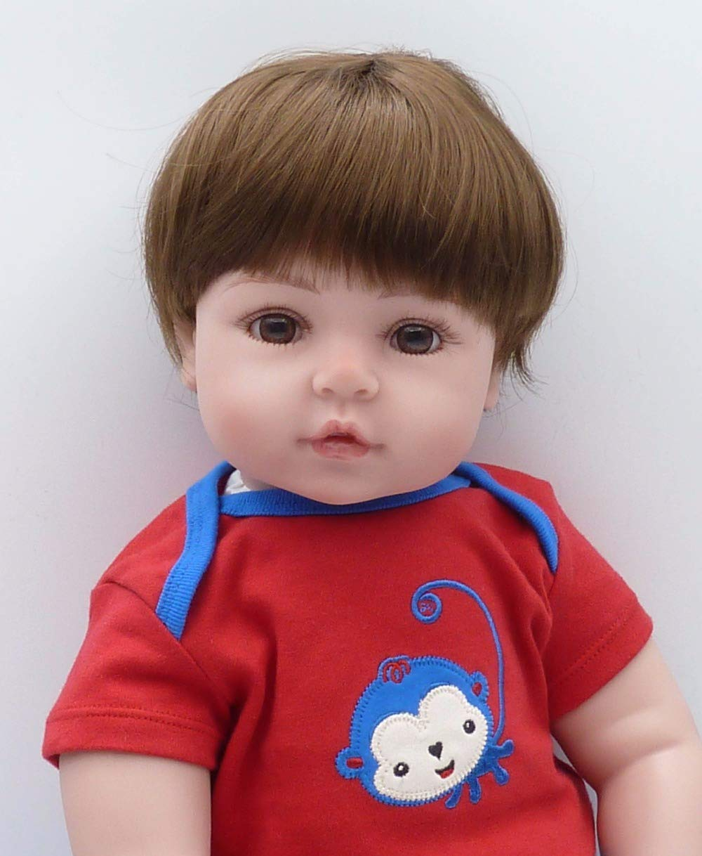47cm ZIYIUI Reborn Baby Dolls Thant Look Real Handemade Soft Silicone Vinyl Reborn Toddler Realistic Real Lifelike Newborn Baby Dolls Girl Toy Best Xmas Birthday Gift (47cm)