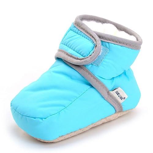 3406bdce7c340 Enteer Infant Snow Boots Premium Soft Sole Anti-Slip Warm Winter Prewalker  Toddler Boots (