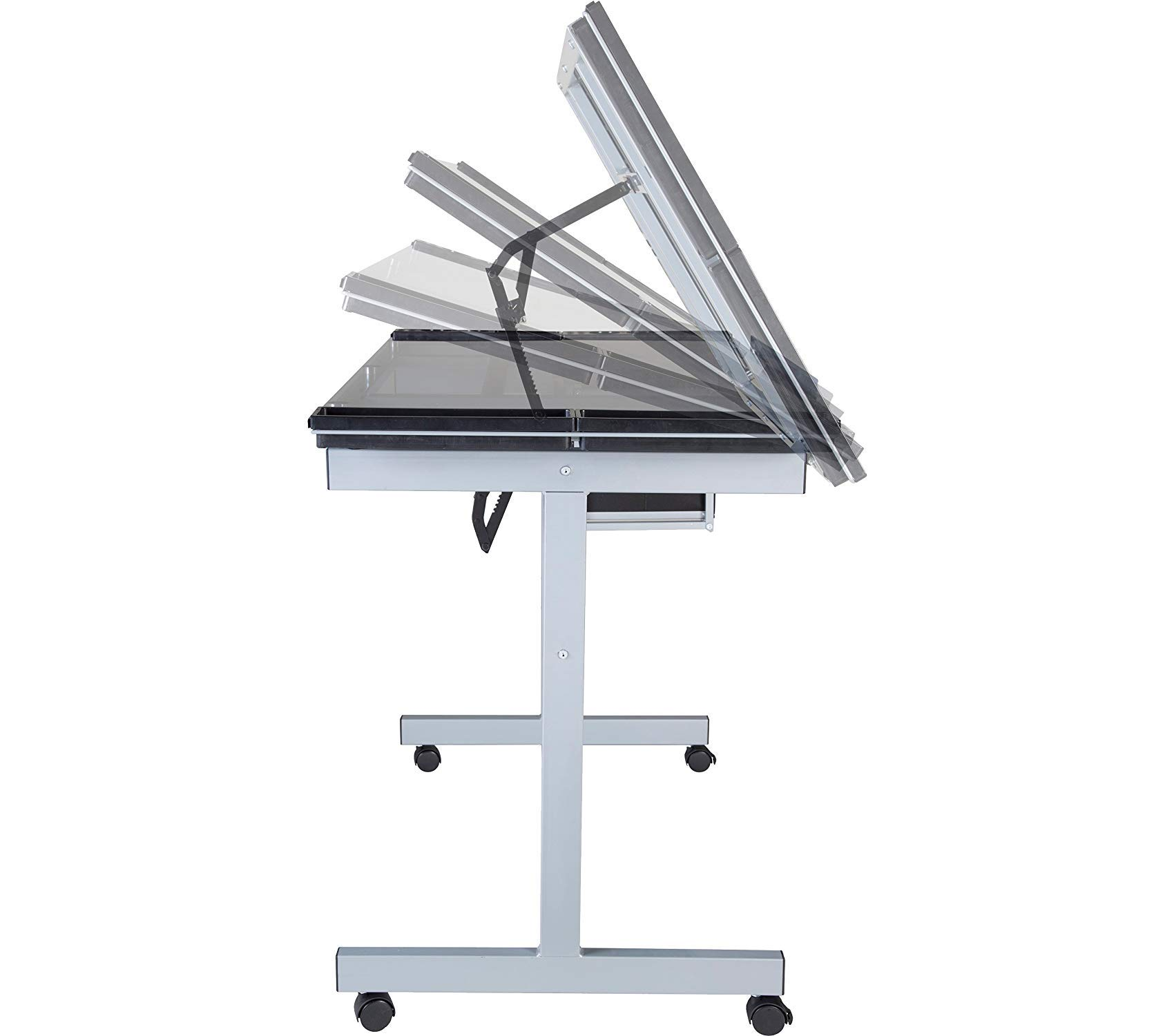 Оnеspаcе Deluxe Premium Collection Craft Station Silver with Blue Glass Decor Comfy Living Furniture by Оnеspаcе (Image #7)