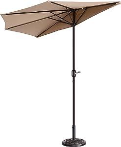 Pure Garden 714649ZMF Patio Umbrella, Beige