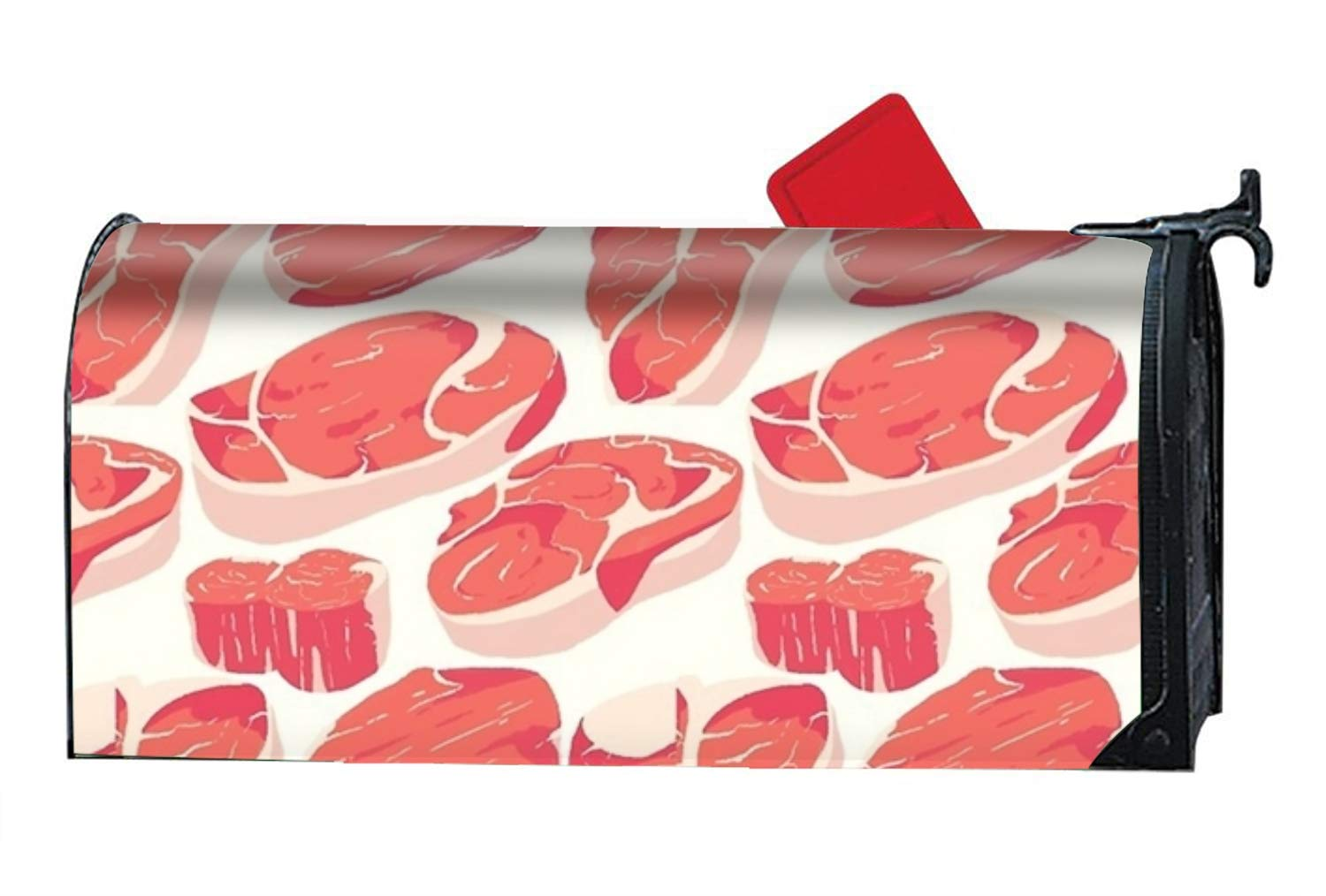 BABBY Magnetic Mailbox Cover - Seamless Meat Themed, Decorative Mailbox Wrap for Standard Size, Customized Design ¨C Multicolor, 9x21 inches