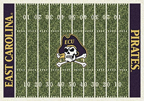Pirates East Rug Carolina - American Floor Mats East Carolina Pirates NCAA College Home Field Team Area Rug 5'4