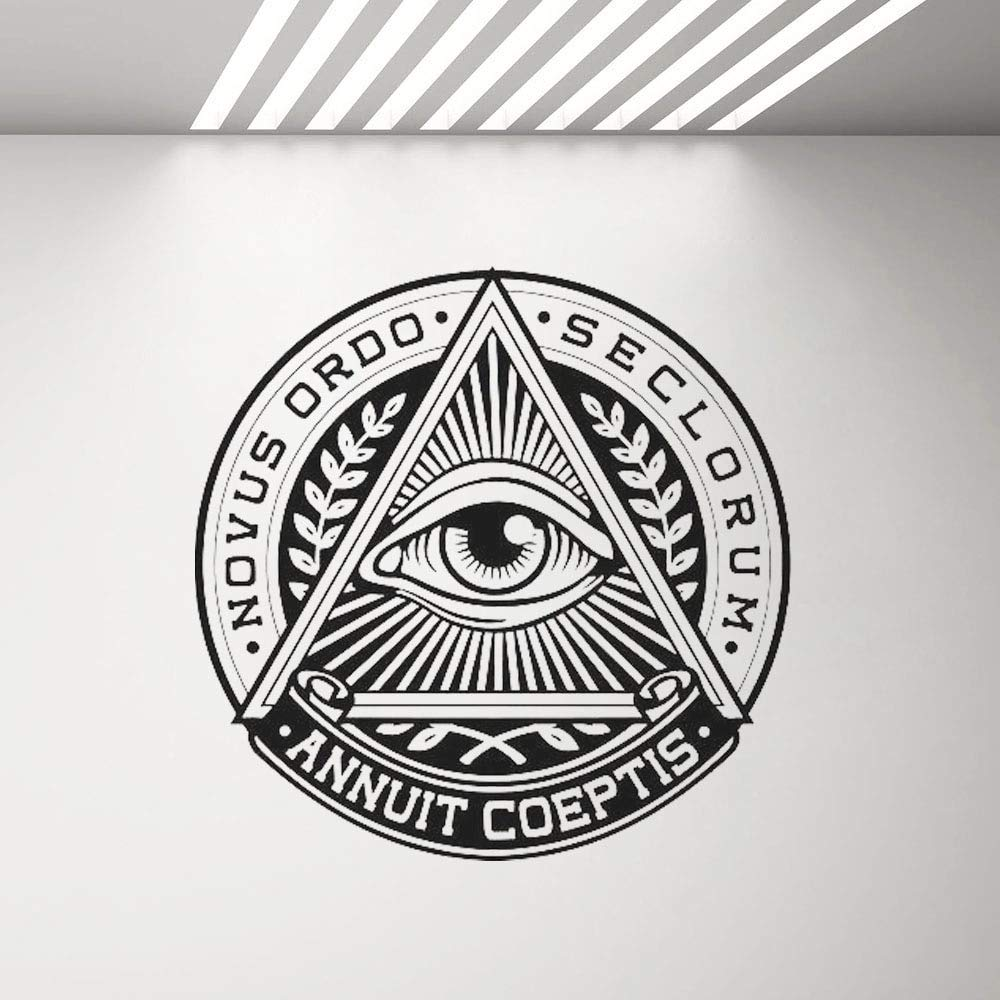 Aya611 Etiqueta de la Pared All Seeing Eye Vinyl Sticker Pyramid ...
