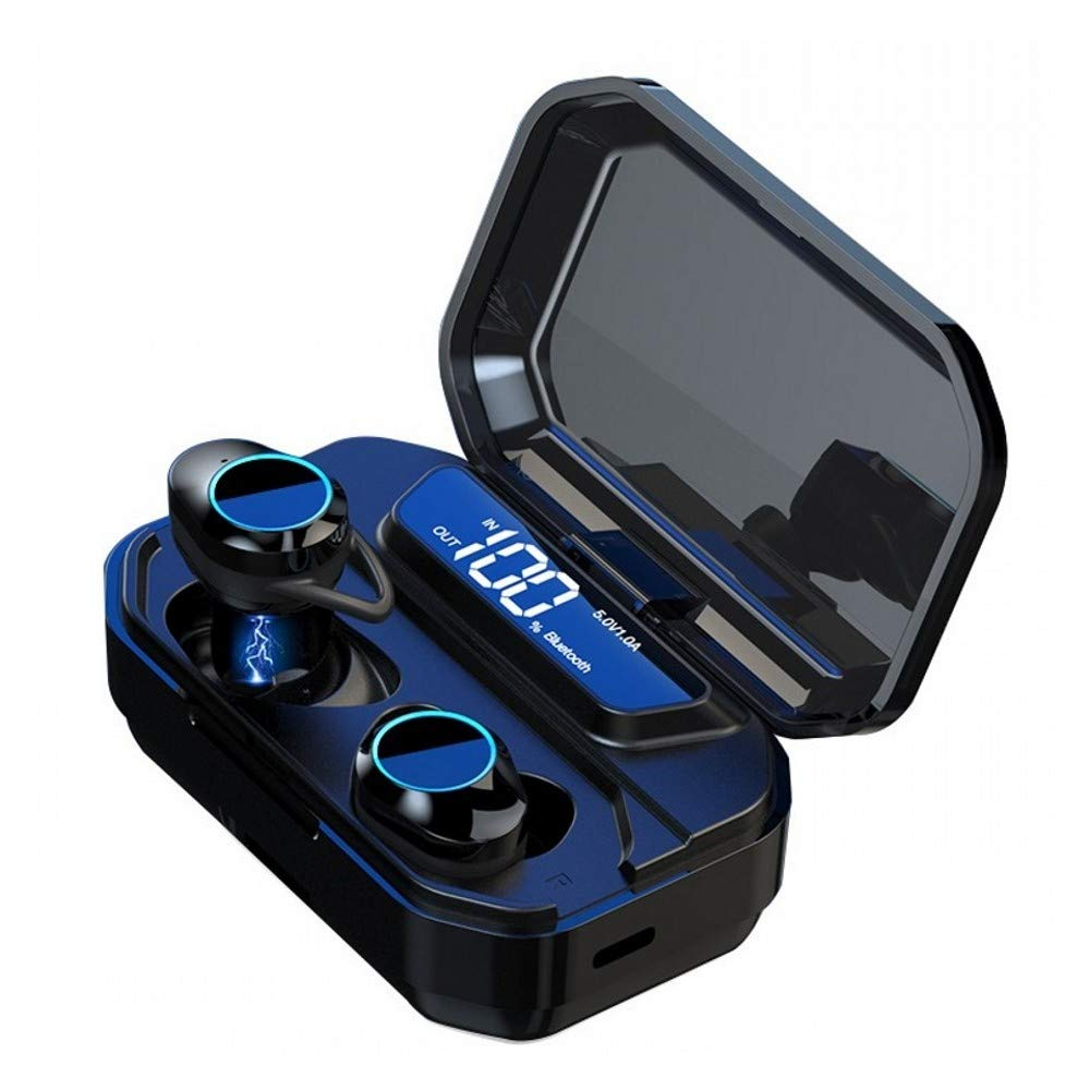 CUFOK True Wireless Earbuds Bluetooth Headphones Waterproof Sport Running Touch Control TWS Earphones Noise Cancelling Handsfree Headset with Microphone for Apple iPhone Android Samsung Galaxy Phone