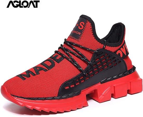 CHXY Zapatos Deportivos Mujer,Zapatos,calcetin Tobillero Hombre,Zapatillas Running Sneakers Al Aire Ligero Niño Niña Unisex,Red-39: Amazon.es: Hogar