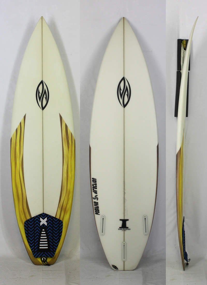 6'0  POSITIVE DIRECTION SURFBOARD [クリア] サーフボード Shaped by isamu ishii氏   B01FH0OV7K