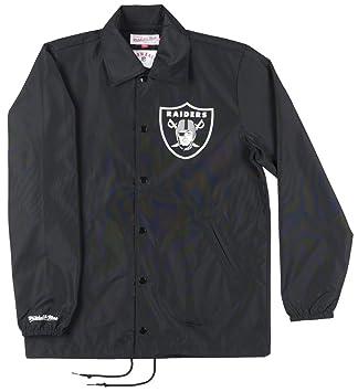 Oakland Raiders Mitchell & Ness entrenadores ligero nailon ...