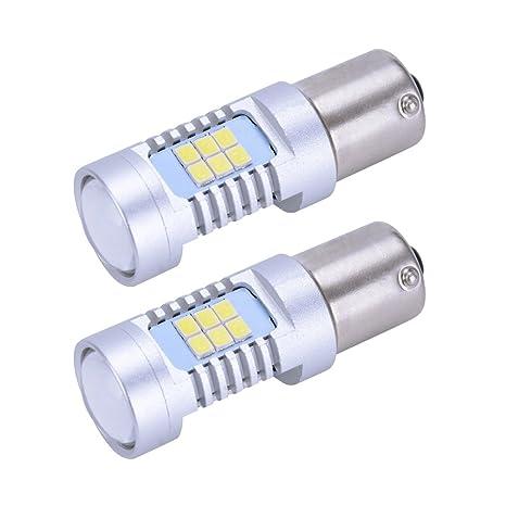 Super brillante blanco P21W 1156 7506 BA15S Alto rendimiento 21-SMD bombillas LED para el