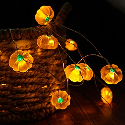 Bohon Halloween Lights 3d Jack O Lantern 10ft 30 Leds Pumpkin String Lights Battery Powered Fairy Lights With Remote For Thanksgiving Party Indoor