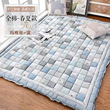 Korean carpet thicken,[short plush], non-slipping blanket bed table crawling mat tatami mattress-E 150200cm(59x79inch)
