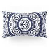 Society6 Denim Mandala Pillow Sham King (20'' x 36'') Set of 2