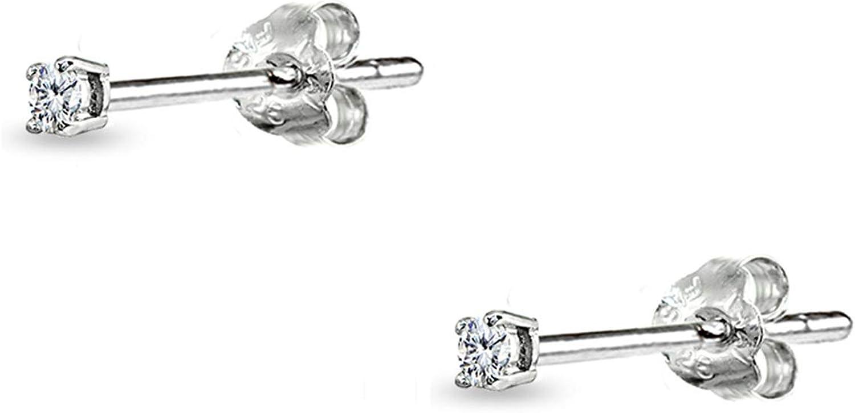 CZ Open Circle Dangle Earrings \u2022 Sterling Silver Earrings \u2022 Handmade Jewelry \u2022 Drop Earrings \u2022 Valentine/'s Day Gift for Her
