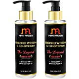 Man Arden Beard Wash (Shampoo) & Conditioner - The Legend - With Moroccan Argan Oil 100ml (Pack Of 2)