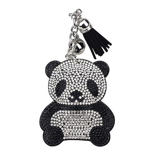 Lumanuby 1 Llavero Negro Panda para Coche con Bolsillo para ...