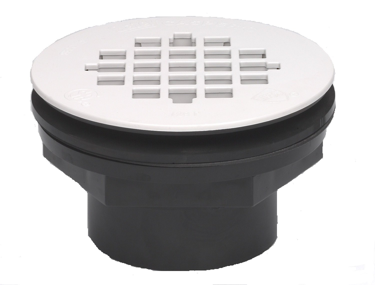 Oatey 42089 101 PS PVC-Solvent Weld Shower Drain with Plastic Strainer 2-Inch