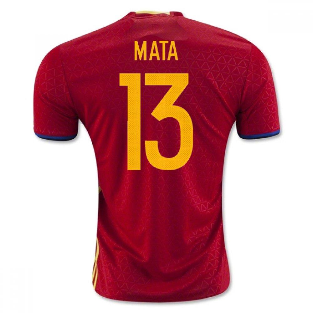 2016-2017 Spain Home Football Soccer T-Shirt Trikot (Juan MATA 13)