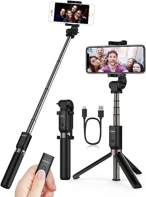 360/° Rotatif B/âton Selfie Compact /& Ultra-L/éger Compatible avec iPhone Bovon Perche Selfie Mini Trepied Smartphone Extensible Selfie Stick Bluetooth avec T/él/écommande Huawei Samsung Xiaomi etc