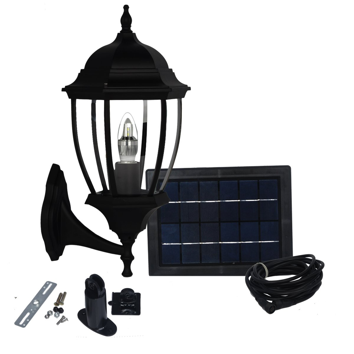 Kendal Large Outdoor Solar powered 1.3W LED, 6600MA Battery, 5W solar panels Garden Light Lamp SL-7404